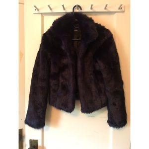 Indigo ASOS Faux Fur Coat - sz 2 - Burning Man
